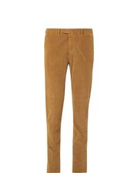 Pantalón de vestir de pana marrón claro de Boglioli