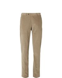 Pantalón de vestir de pana marrón claro de Canali