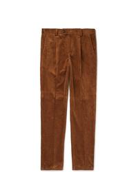 Pantalón de vestir de pana marrón de Brunello Cucinelli