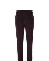 Pantalón de vestir de pana morado oscuro de Canali