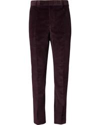 Pantalón de vestir de pana morado oscuro de Richard James
