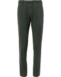 Pantalón de vestir de pana verde oscuro de Boglioli