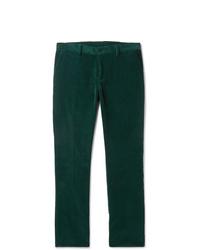 Pantalón de vestir de pana verde oscuro de Etro