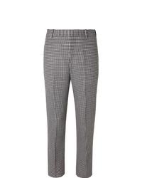 Pantalón de vestir de pata de gallo en negro y blanco de Alexander McQueen