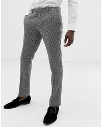 Pantalón de vestir de pata de gallo en negro y blanco de Twisted Tailor