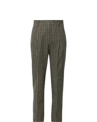 Pantalón de vestir de pata de gallo marrón de Acne Studios