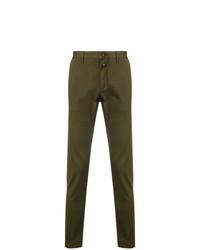 Pantalón de vestir de pata de gallo verde oliva de Closed