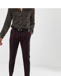 Pantalón de vestir de rayas verticales azul marino de Heart & Dagger