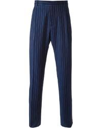 Pantalón de Vestir de Rayas Verticales Azul Marino de J.W.Anderson