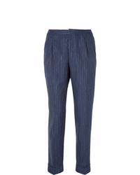 Pantalón de vestir de rayas verticales azul marino de Officine Generale