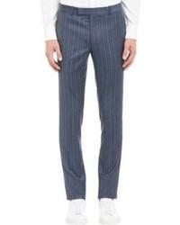 Pantalón de vestir de rayas verticales azul