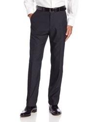 Pantalón de Vestir de Rayas Verticales Gris Oscuro