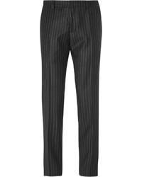 Pantalón de vestir de rayas verticales negro de Ami