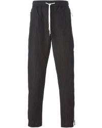 Pantalón de vestir de rayas verticales negro de Dolce & Gabbana