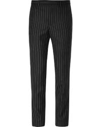 Pantalón de vestir de rayas verticales negro de Givenchy