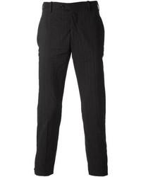 Pantalón de vestir de rayas verticales negro de Neil Barrett