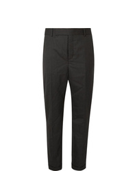 Pantalón de vestir de rayas verticales negro de Saint Laurent