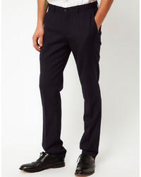Pantalón de vestir de rayas verticales negro de Vito