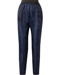 Pantalón de vestir de seda azul marino de Albus Lumen
