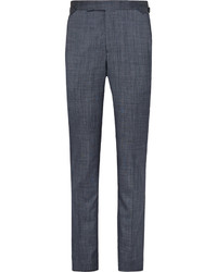 Pantalón de vestir de seda azul marino de Richard James