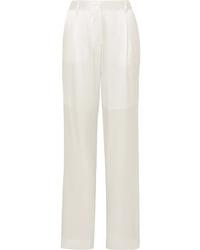Pantalón de vestir de seda blanco de Michael Lo Sordo