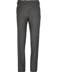 Pantalón de vestir de seda en gris oscuro