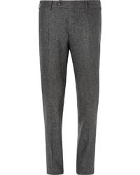 Pantalón de vestir de seda en gris oscuro de Canali