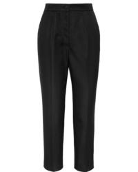Pantalón de vestir de seda negro de Dolce & Gabbana