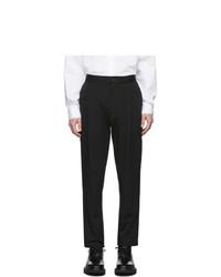Pantalón de vestir de seersucker negro