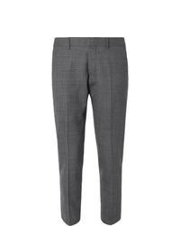 Pantalón de vestir de tartán en gris oscuro de Ami