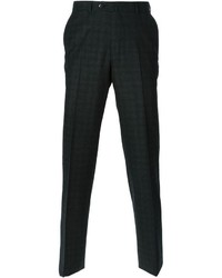 Pantalón de vestir de tartán en gris oscuro de Ermenegildo Zegna