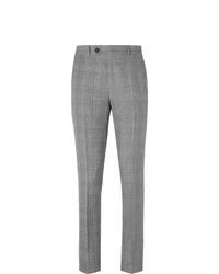 Pantalón de vestir de tartán gris de Brunello Cucinelli