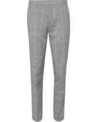 Pantalón de vestir de tartán gris de J.Crew
