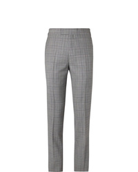 Pantalón de vestir de tartán gris de Kingsman
