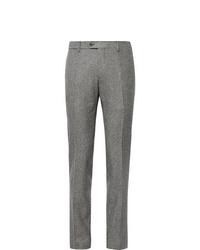 Pantalón de vestir de tartán gris de Lardini