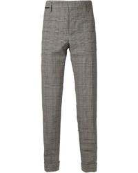 Pantalón de vestir de tartán gris de Marc Jacobs
