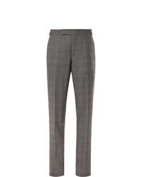 Pantalón de vestir de tartán gris de Tom Ford