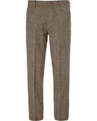 Pantalón de vestir de tartán marrón de J.Crew
