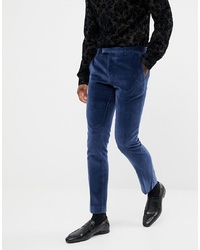 Pantalón de vestir de terciopelo azul marino