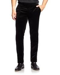 Pantalón de vestir de terciopelo negro