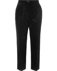 Pantalón de vestir de terciopelo negro de Dolce & Gabbana
