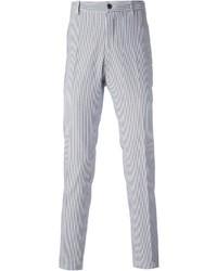 Pantalón de vestir en blanco y azul