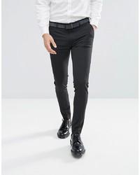 Pantalón de vestir en gris oscuro de ASOS DESIGN