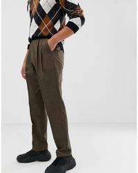 Pantalón de vestir en marrón oscuro de ASOS DESIGN