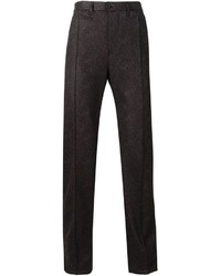 Pantalón de vestir en marrón oscuro de Julien David