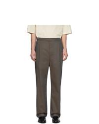 Pantalón de vestir en marrón oscuro de Lemaire