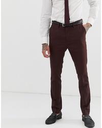 Pantalón de vestir en marrón oscuro de New Look
