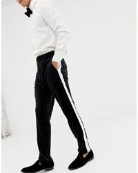 Pantalón de vestir en negro y blanco de ASOS DESIGN