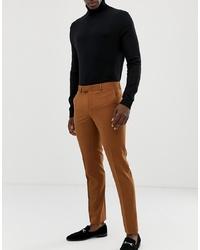 Pantalón de vestir en tabaco de Farah Smart