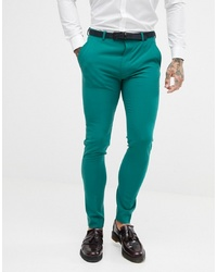 Pantalón de vestir en verde azulado de ASOS DESIGN
